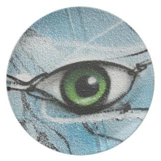Graffiti Eye Plates