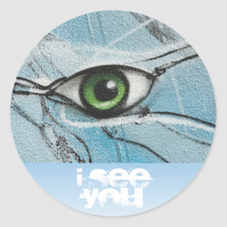Graffiti Eye Round Sticker