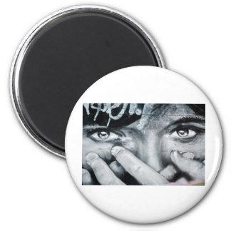 Graffiti Eyes 2 Inch Round Magnet