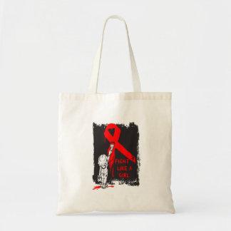 Graffiti FIGHT Like a Girl - Blood Cancer Tote Bag
