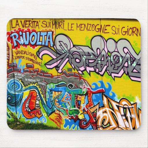 graffiti freedom speech mouse pad