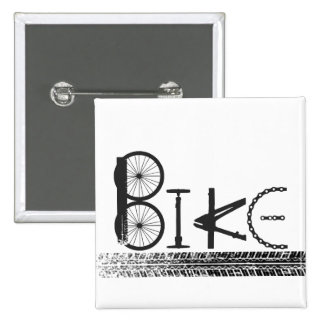 Graffiti from Bike Parts with Tire Tracks Pinback Button