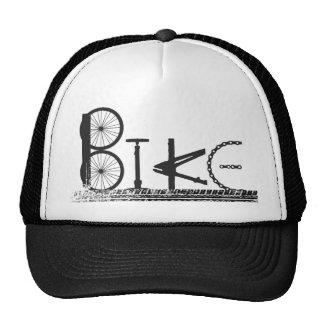 Graffiti from Bike Parts with Tire Tracks Trucker Hat