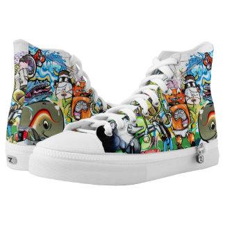 Graffiti Fun High-Top Sneakers