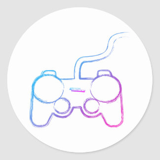Graffiti Gamer Pad - Gaming Video Games Geek Classic Round Sticker