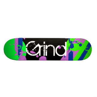 Graffiti Grind Skateboard Purple Green Blue