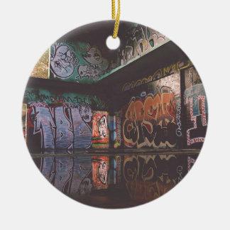 Graffiti Grunge Design Ceramic Ornament