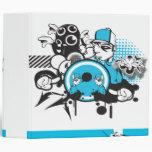 graffiti grunge notebook 3 ring binder