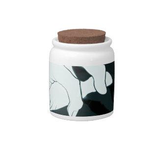 graffiti hand x-ray candy jar