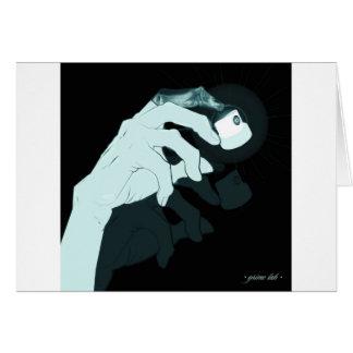 graffiti hand x-ray card