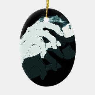 graffiti hand x-ray ceramic ornament