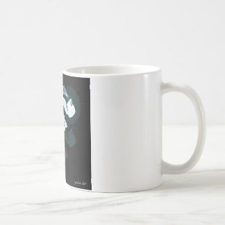 graffiti hand x-ray coffee mug