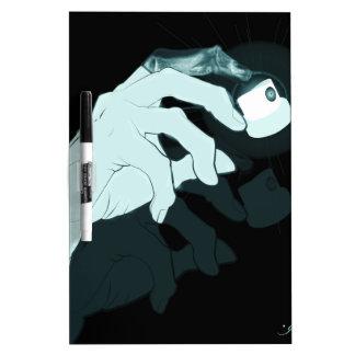 graffiti hand x-ray dry erase board