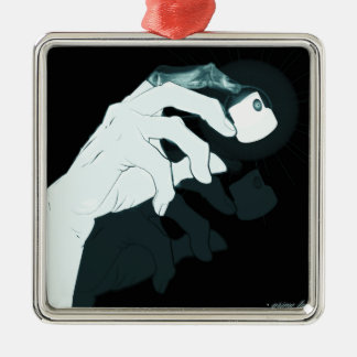 graffiti hand x-ray metal ornament