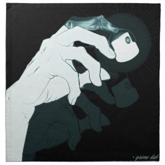 graffiti hand x-ray napkin