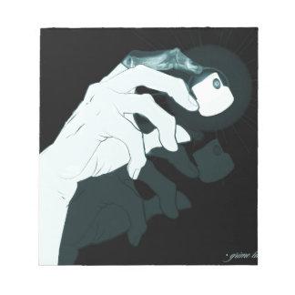 graffiti hand x-ray notepad