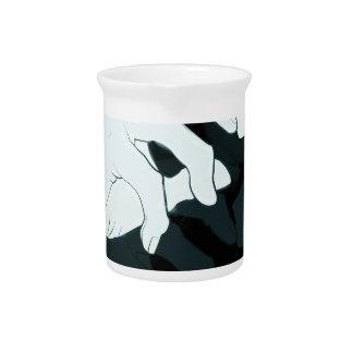 graffiti hand x-ray pitcher
