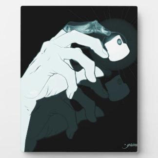 graffiti hand x-ray plaque