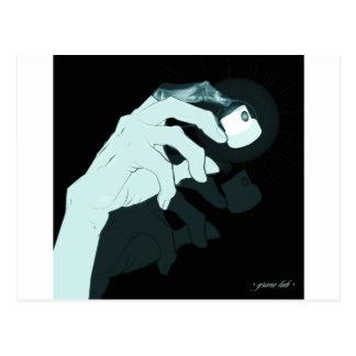 graffiti hand x-ray postcard