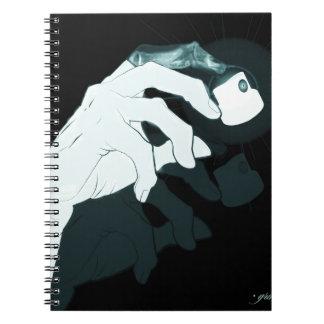 graffiti hand x-ray spiral notebook