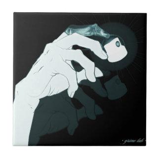 graffiti hand x-ray tile