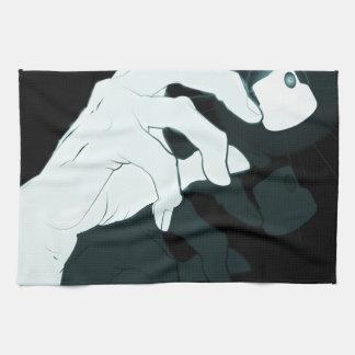 graffiti hand x-ray towel