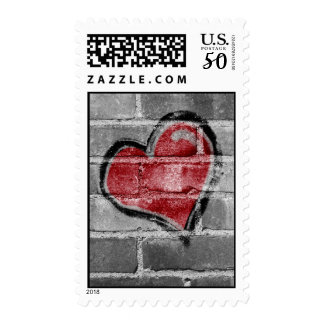 Graffiti Heart Postage