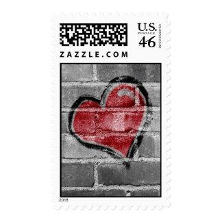 Graffiti Heart Postage
