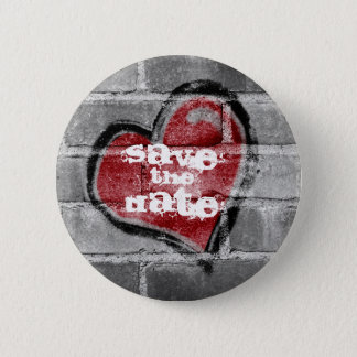 Graffiti Heart Save  the Date Button