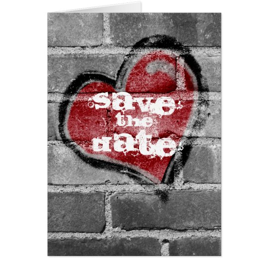 Graffiti Heart Save  the Date Card