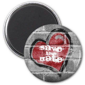 Graffiti Heart Save the Date Magnet