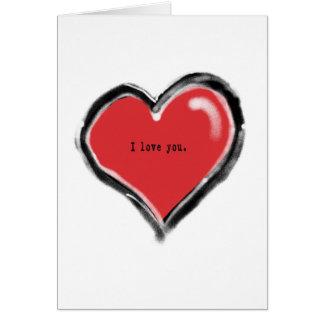 Graffiti heart with I love you Card