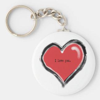 Graffiti heart with I love you Keychain