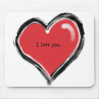 Graffiti heart with I love you Mouse Pad