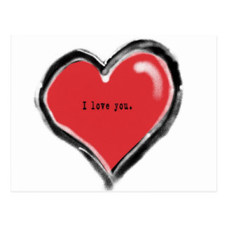 Graffiti heart with I love you Postcard
