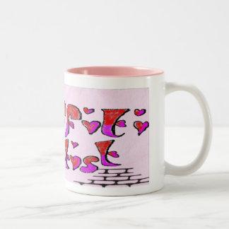 graffiti heartist Two-Tone coffee mug
