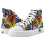 Graffiti High-Top Sneakers