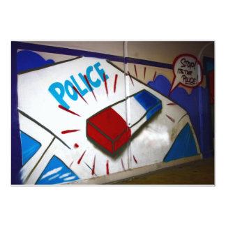 Graffiti in a subway Police Invitation