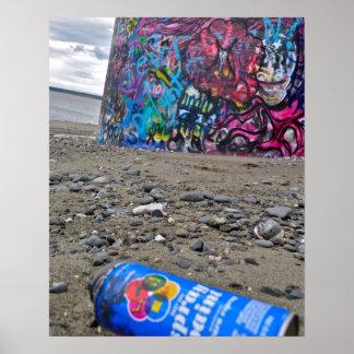 Graffiti in Anchorage Alaska Posters