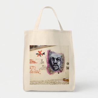 GRAFFITI IN LISBON - URBAN CHIC Grocery Tote Bag