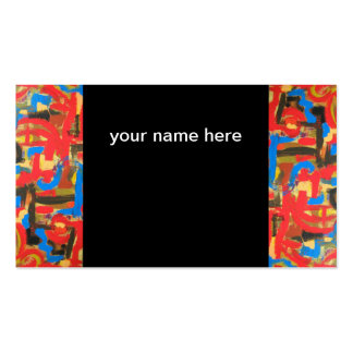 Graffiti In The Attic-Abstract Art Brushstrokes Business Card
