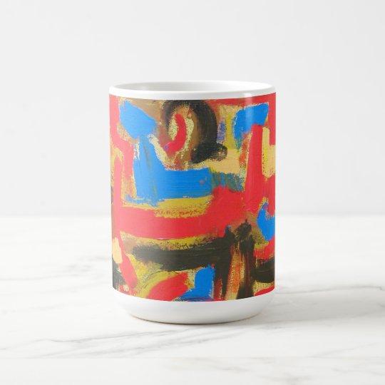 Graffiti In The Attic-Abstract Art Brushstrokes Coffee Mug