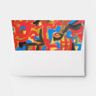 Graffiti In The Attic-Abstract Art Brushstrokes Envelope