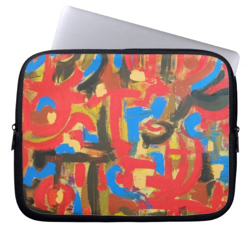 Graffiti In The Attic - Abstract Art Laptop Sleeve