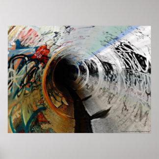 Graffiti in Water Drain - Victoria, Australia Poster
