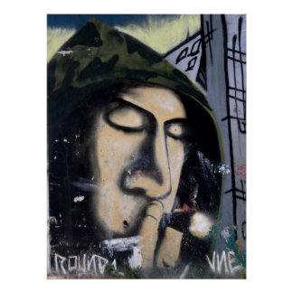 Graffiti - Inhale Poster