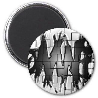 Graffiti Insomniacs Collage 2 Inch Round Magnet