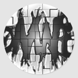 Graffiti Insomniacs Collage Classic Round Sticker
