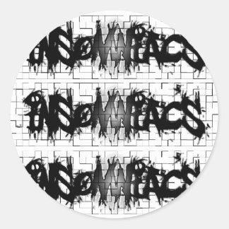 Graffiti Insomniacs Collage Round Sticker