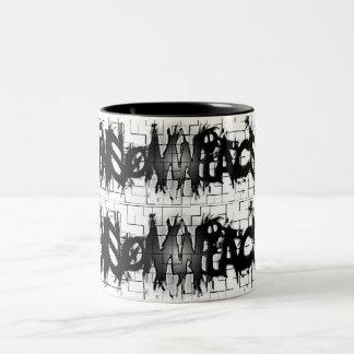 Graffiti Insomniacs Collage Two-Tone Coffee Mug